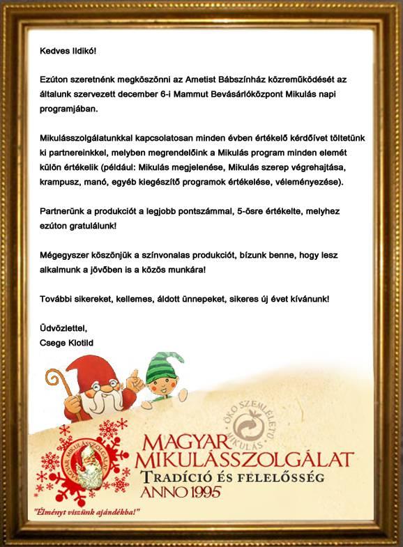 Magyar Mikulás Szolgálat, 2011. december